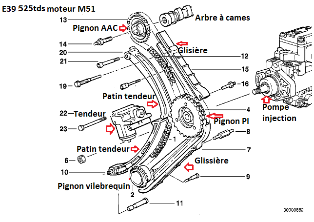 [ BMW E39 M51 525TDS M51 an 1997 ] question calage pompe à injection (résolu) 11_e3911