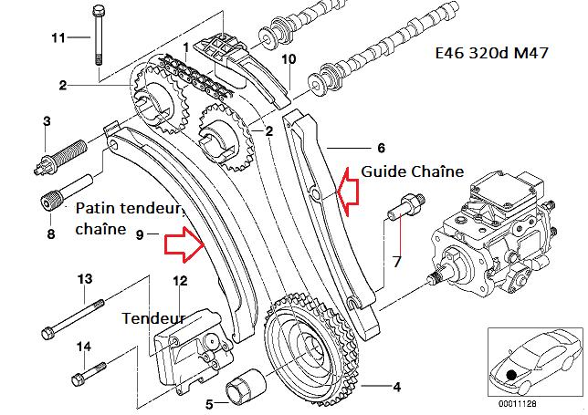 [ BMW E46 320d M47 an 1998 ] Poulie Damper bruyante (Résolu) - Page 2 11_m4710