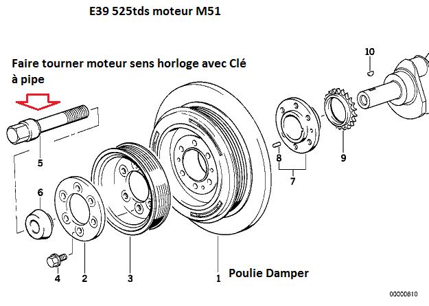 [ BMW E39 525TDS M51 an 1997 ] Panne suite niveau d'huile faible 11_m5110