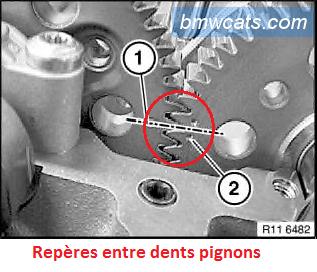 [ BMW X3 3.0d M57N2 an 2006 ] calage distribution 11_pig10
