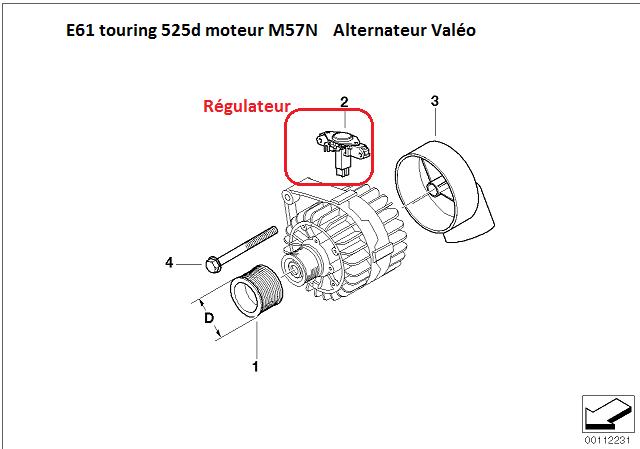 [ Bmw E61 525d M57N an 2006 ] Décharge batterie en roulant aleatoire 12_e6110