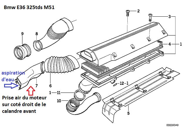 [ Bmw E36 325tds M51 an 1994 ] Moteur claquement 13_e3612