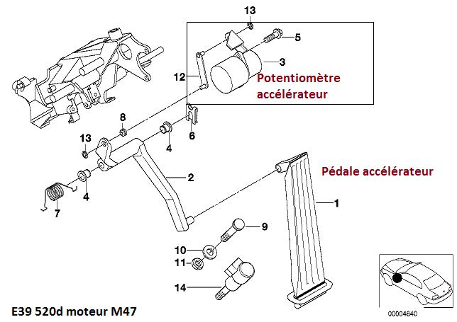 [ BMW E39 M47 520d an 2000 ] Voyant DDE rallumé ma pédale d'accélérateur fonctionne plus 35_e9_10
