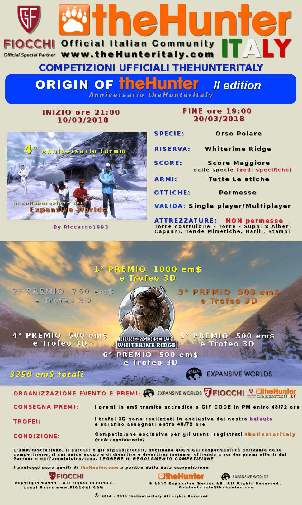 [CONCLUSA] 4444 Special Event - Competizioni ufficiali TheHunteritaly - Origin Of theHunter II edizione  - Orso Polare - Annive12