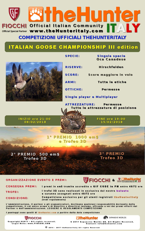 [CONCLUSA] 4444 Special Event - Competizioni ufficiali TheHunteritaly - Italian Goose Championship III edizione  - Oca Canadese - Italia11