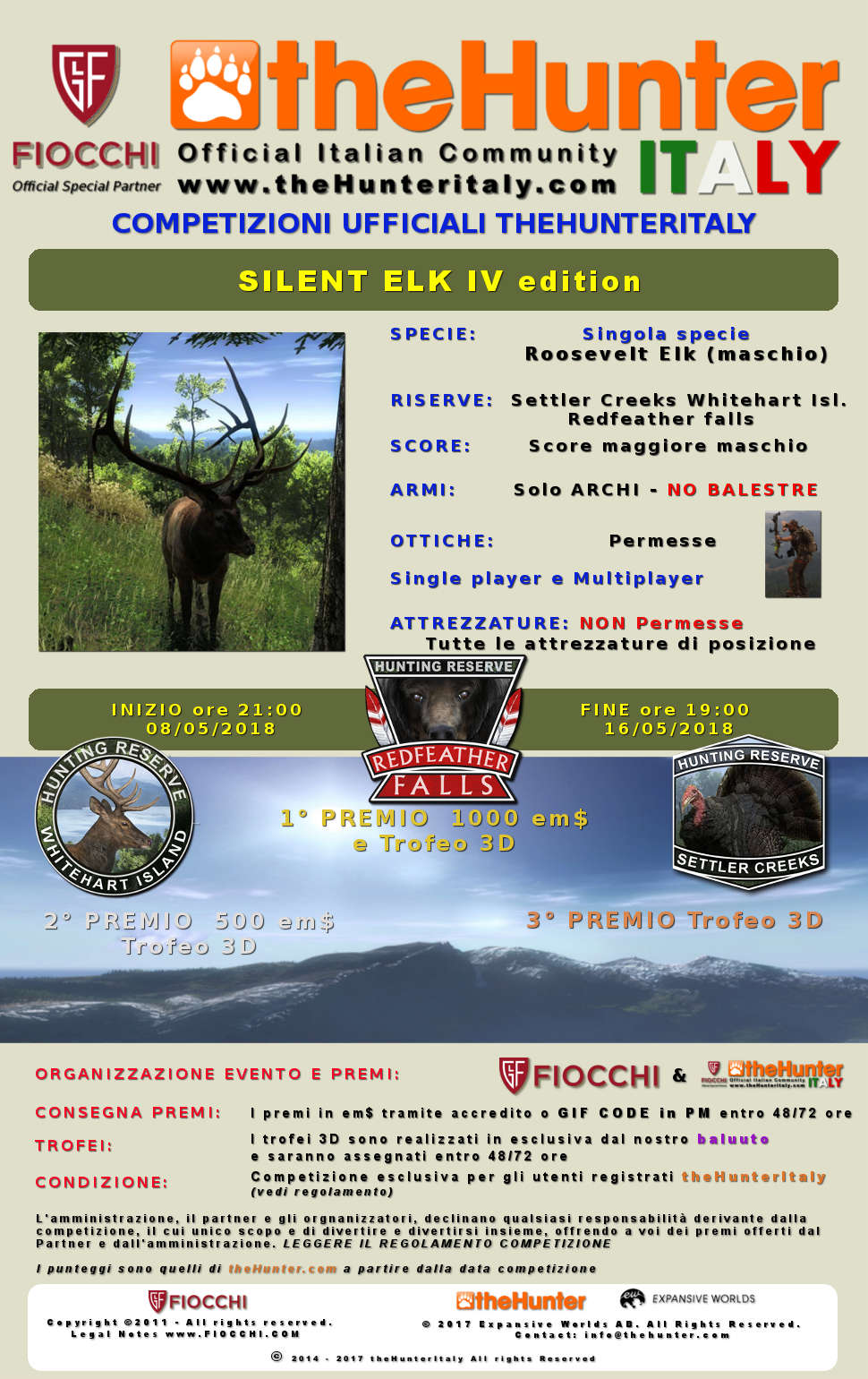 [CONCLUSA] Competizioni Ufficiali theHunterItaly: - Silent Elk IV edition - Roosevelt Elk Silent10