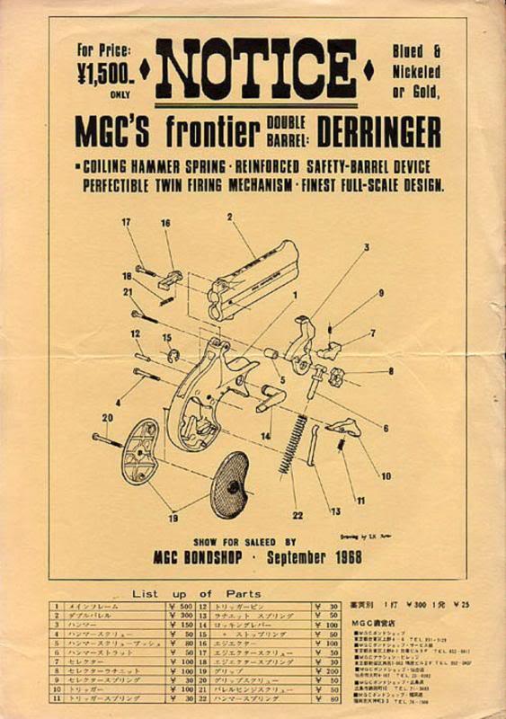 MGC DERRINGER Exploded Diagram Mgcder10