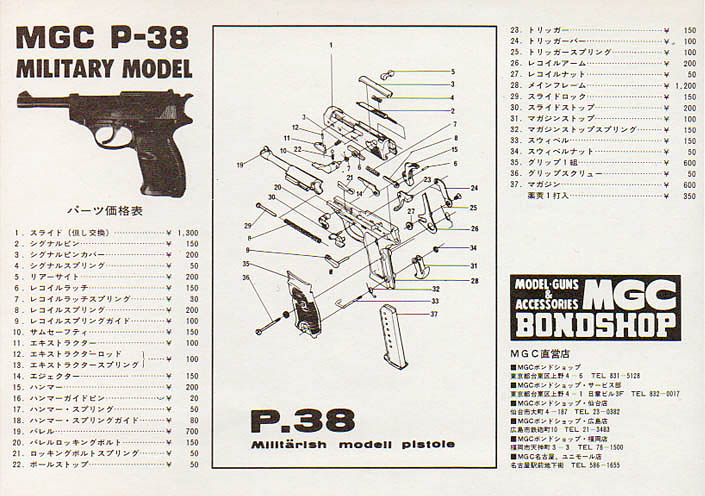 Mgc P38 Military Exploded Diagram