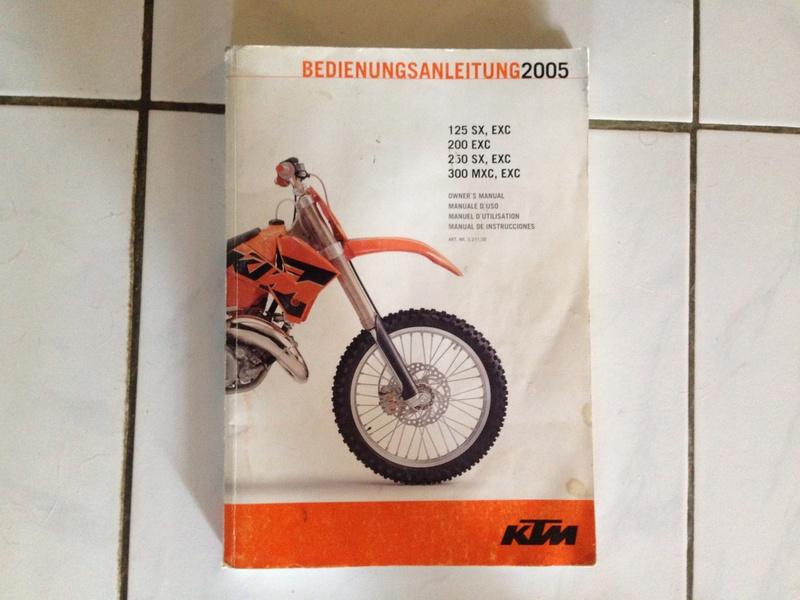 manuel d'utilisateur KTM exc 2005 Img_1212