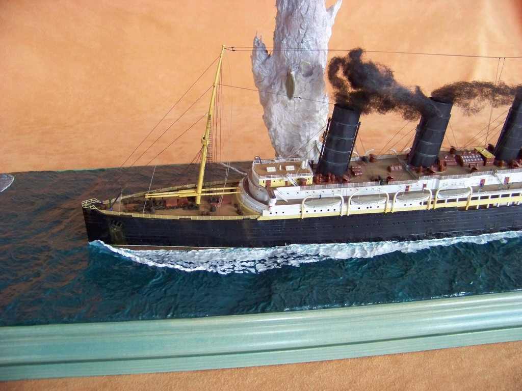 Dio : Torpillage du RMS Lusitania (Gunze Sangyo 1/350°) par PLEF - Page 2 100_9100