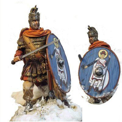 (IIIe) Vitrine  de Duck: Les quat' centurions.... 3692cb10