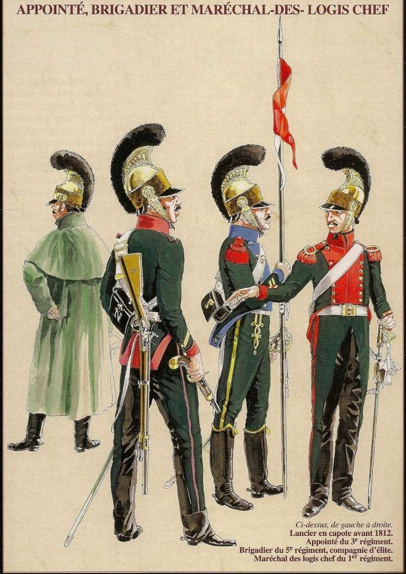 Officier 1er RGT CHEVAU-LEGERS LANCIERS de la ligne 1812 Cheval10