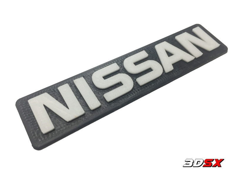 3D Printed Gtir Badges And key rings  Nissan10