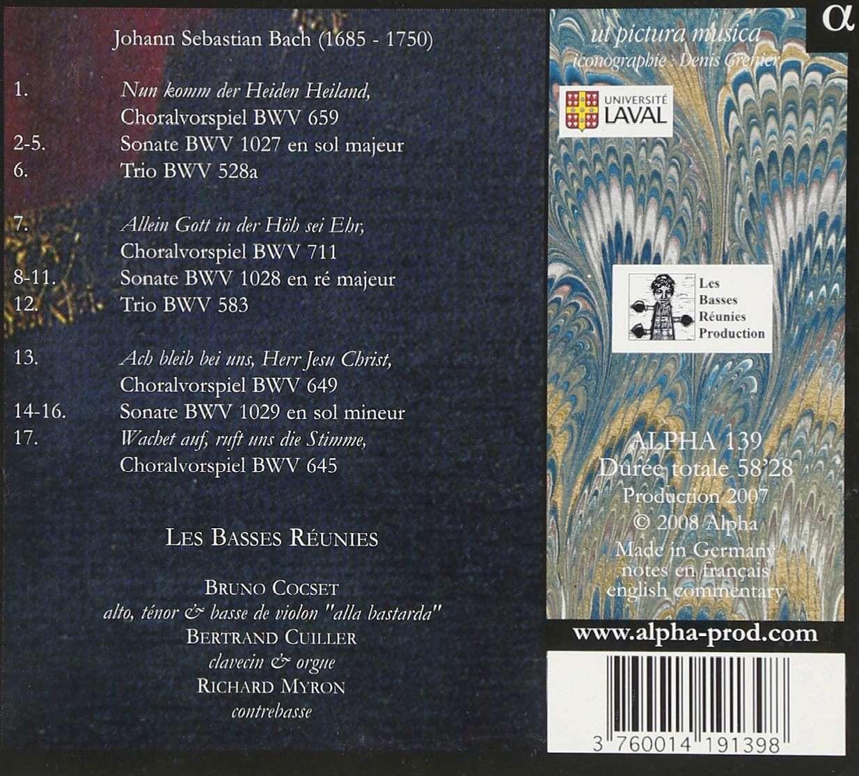 Bach JS. Sonates pour viole de gambe et clavecin 81vl7j10