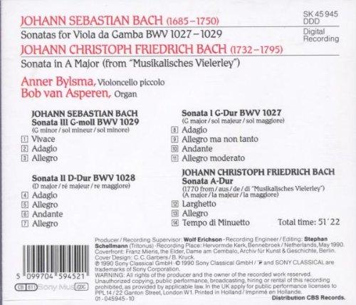 Bach JS. Sonates pour viole de gambe et clavecin Bylsma12