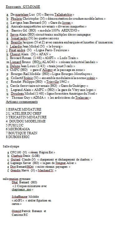 rencontre du train miniature guerignoise - Page 2 Liste_11