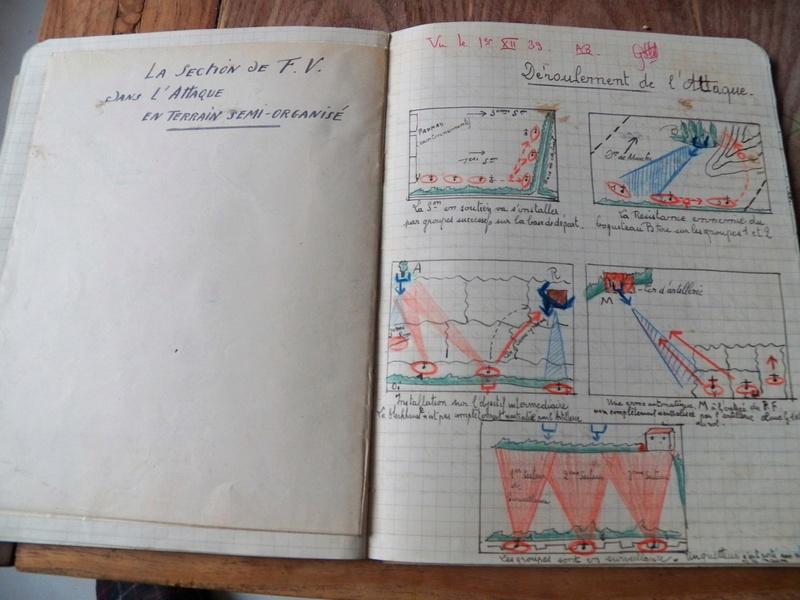 cahier d'exercices de combats pour officier 1939/1940 d'un élève de l'EMICC 100_0010