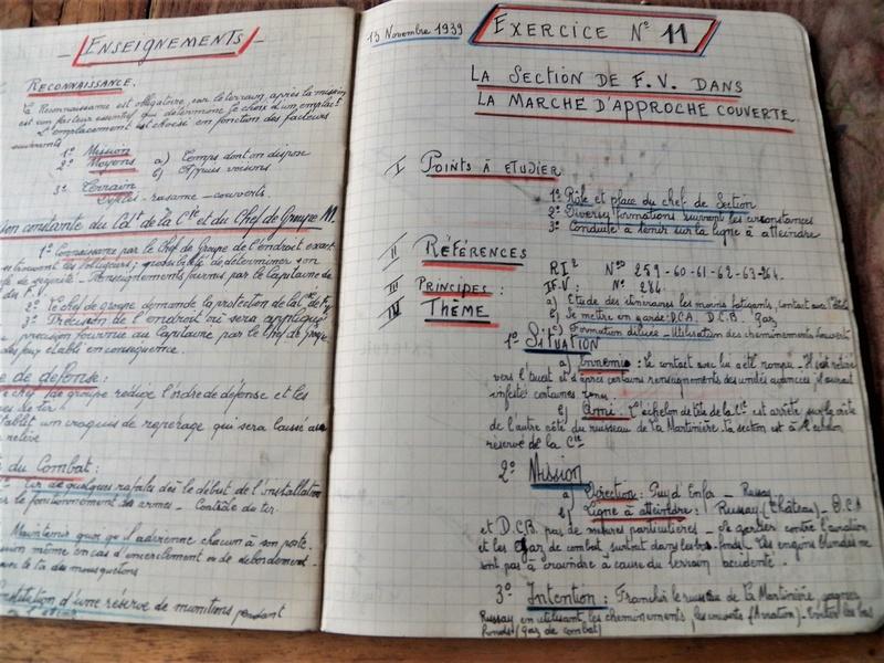 cahier d'exercices de combats pour officier 1939/1940 d'un élève de l'EMICC 100_0014
