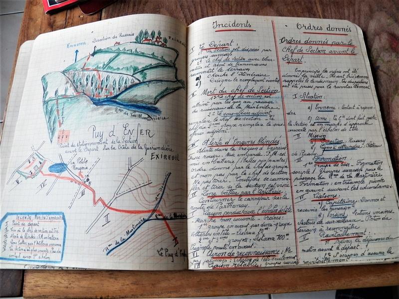 cahier d'exercices de combats pour officier 1939/1940 d'un élève de l'EMICC 100_0015