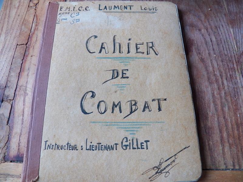 cahier d'exercices de combats pour officier 1939/1940 d'un élève de l'EMICC 100_0016