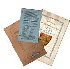 Documents-Papiers et affiches de l'armée Francaise