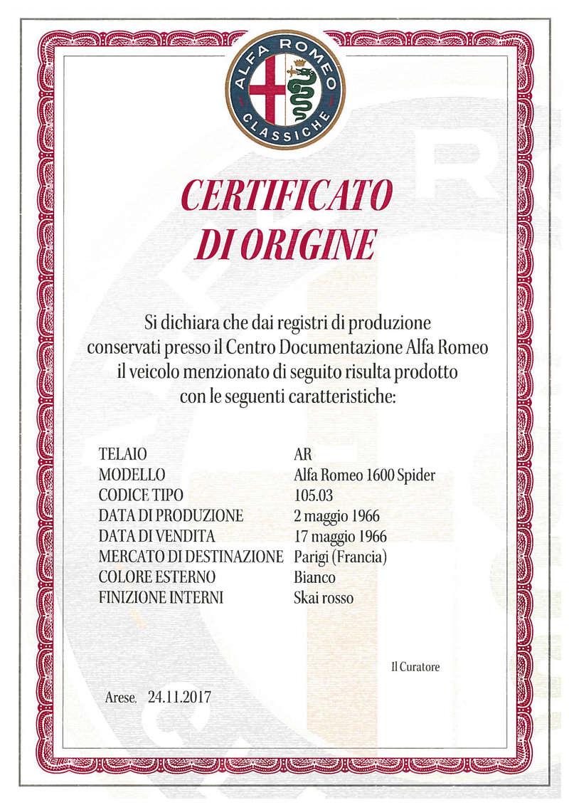 centre de documentation alfa romeo et date de fabrication - Page 2 Certif10