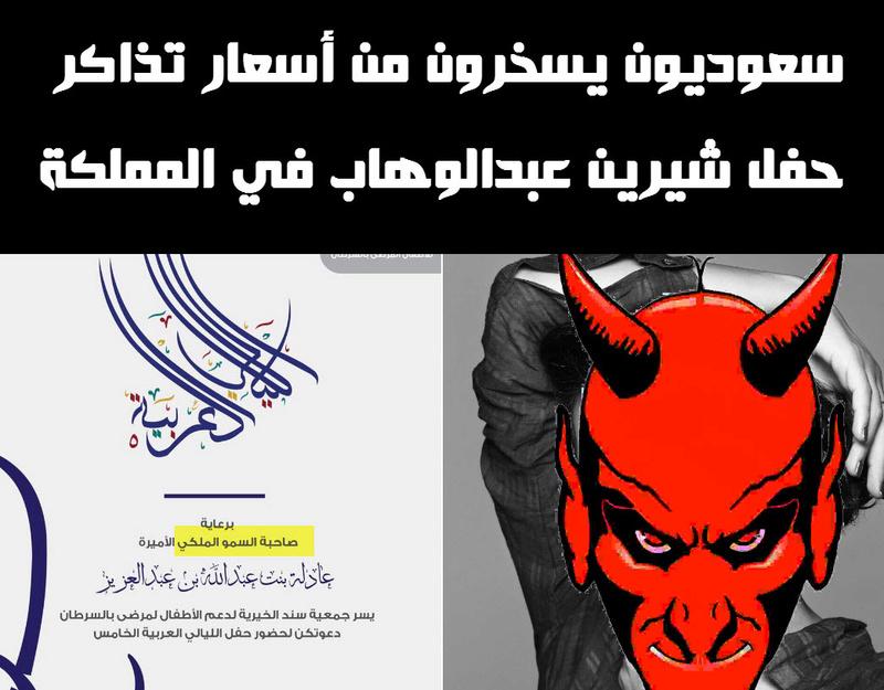 سعوديون يسخرون من أسعار تذاكر حفل شيرين عبدالوهاب في المملكة (صور) 13-10-10