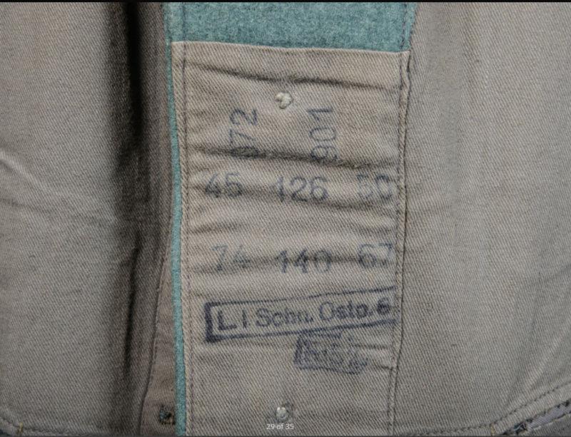 salle des ventes caen vestes allemandes beaucoup de tampons !!! 0210