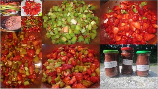 Confiture de fraises/rhubarbe vanillé. Confit10