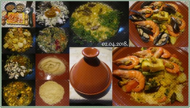 Couscous aux fruits mer et poisson. Cousco10
