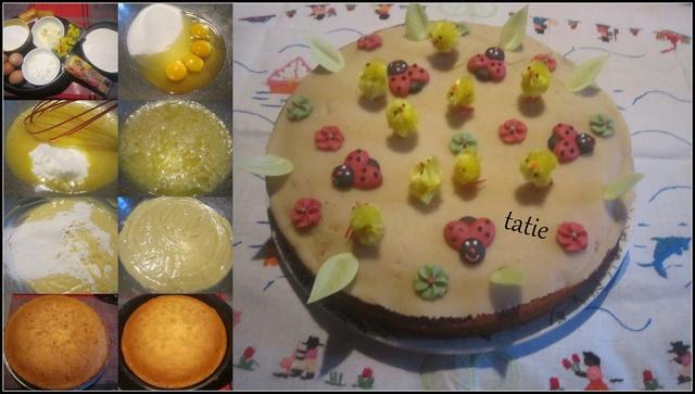 Gâteau mes amis aux pays fleuris. Gyteau10