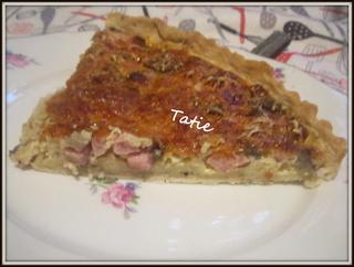 Tarte aux jambon/champignons.gratinés.  Img_6013