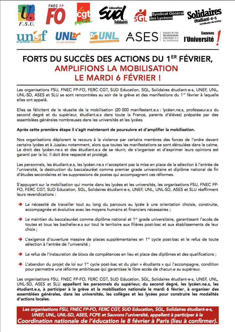 Grève dans l'Education le mardi 6 février Captur24