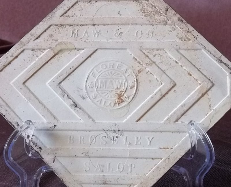 Tiles: MAW & Co, Broseley, Jackfield, Salop (Shropshire). 100_3616