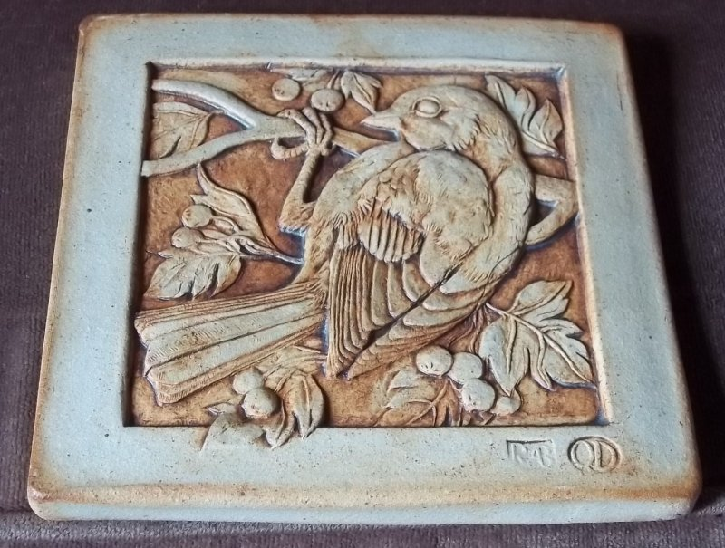 Stoneware Bird tile - Quantock Designs 100_3714