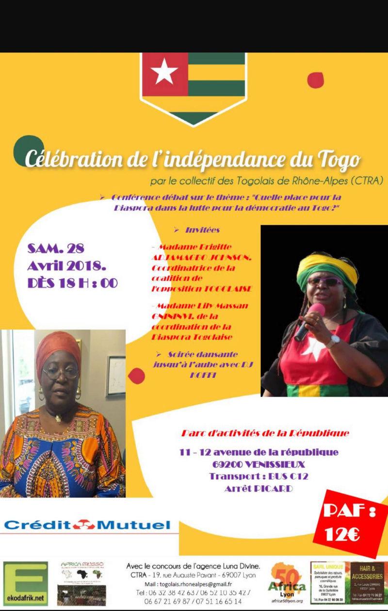 Soirée de célébration de l'indépendance du Togo : debat + soirée dansante 20180410