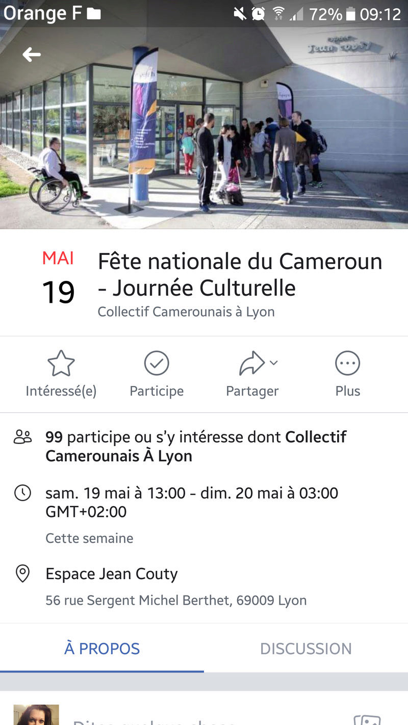 Fête nationale du cameroun a Lyon du 18 au 20/05 Screen12