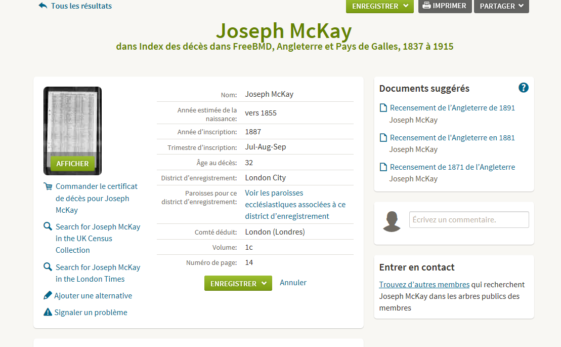 McKay sur Ancestry international Mckay10