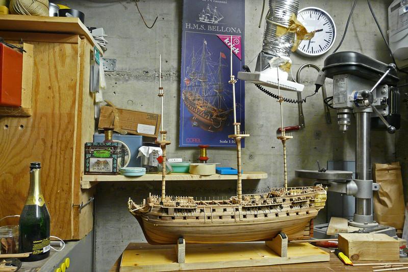 Fertig - Die Bellona 1760 bis 1814 gebaut von Helling Bellon89
