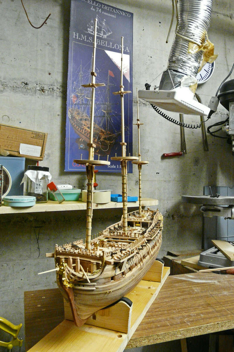 Fertig - Die Bellona 1760 bis 1814 gebaut von Helling Bellon90