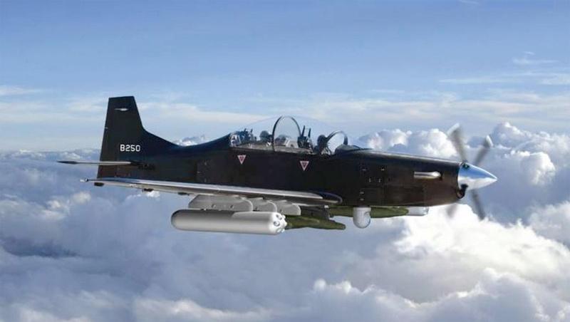 """Le B250 Calidus - Nouvel avion US - d""""attaque et d'observation . Callid10"""