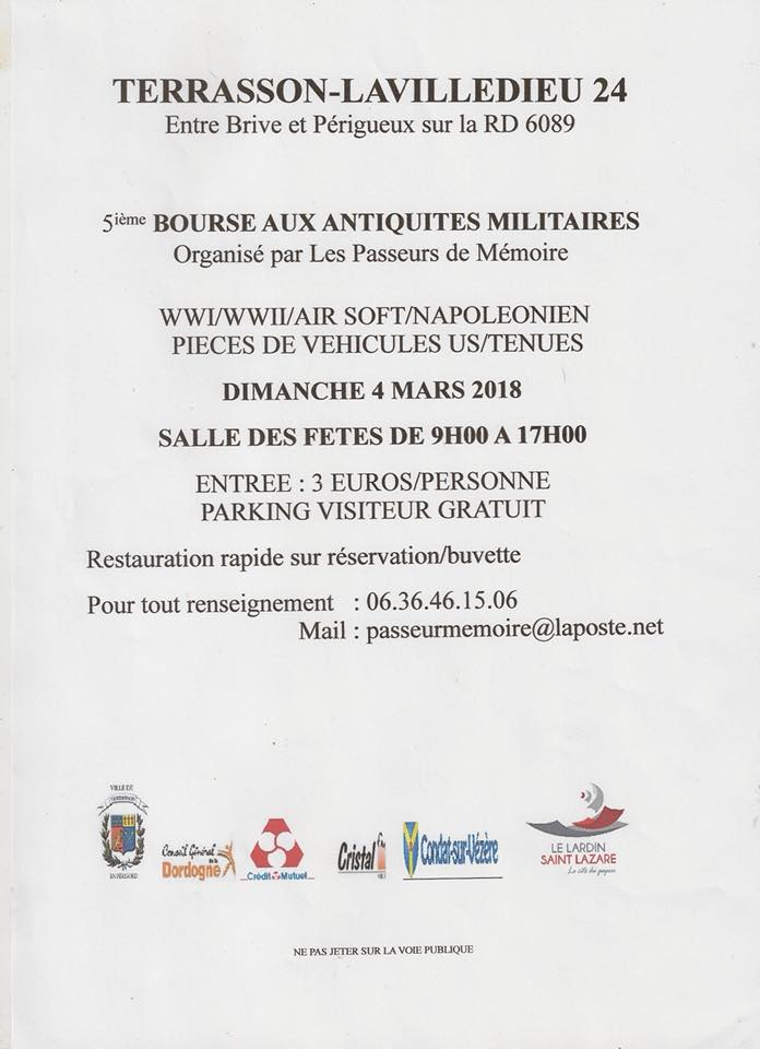 Bourse 4 mars 2018 TERRASSON (24 Dordogne) 165m de table j-3 COMPLETE 27072610