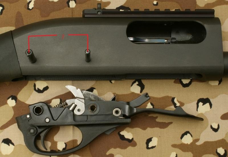 Rem 870 entraxe des pin trigger group Reming10