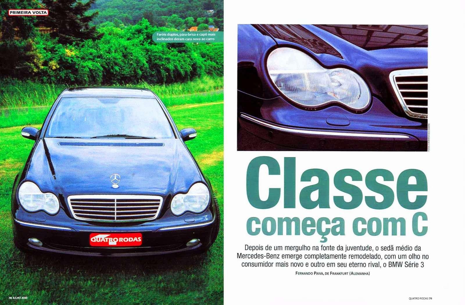 (W203): Avaliação Revista Quatro Rodas - C320 - julho de 2000 63b63510