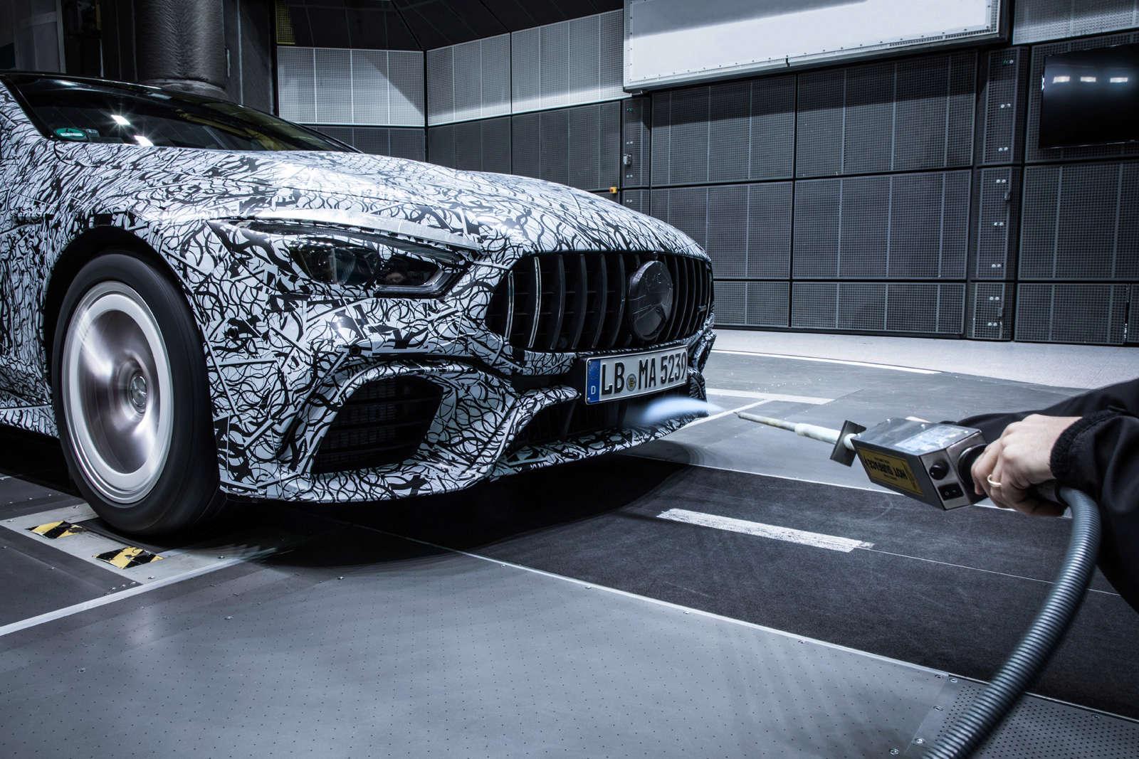 (X290): Fotos da Mercedes-AMG GT4 em testes no túnel de vento 7f9bec10