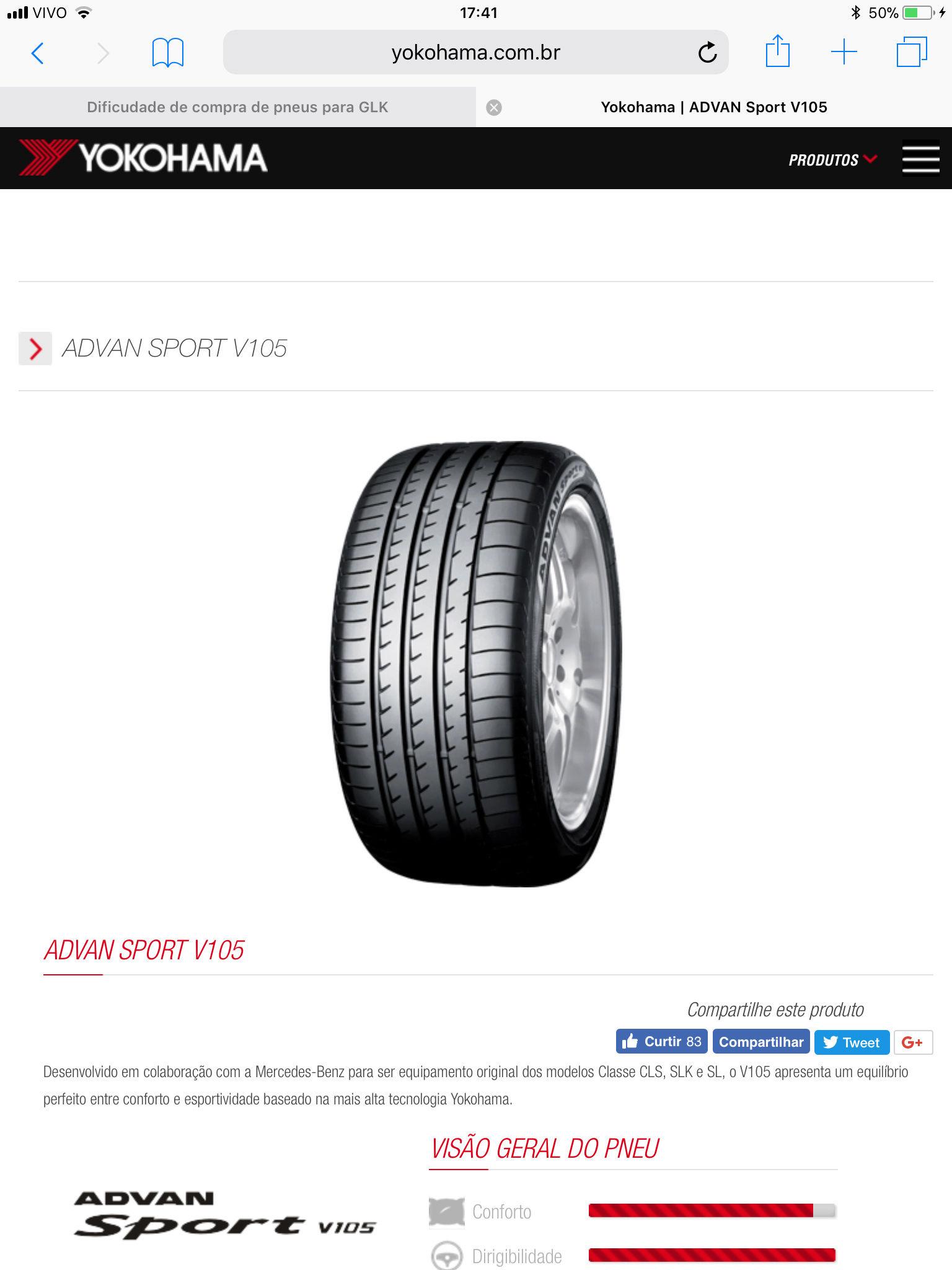 Dificudade de compra de pneus para GLK 9476d310