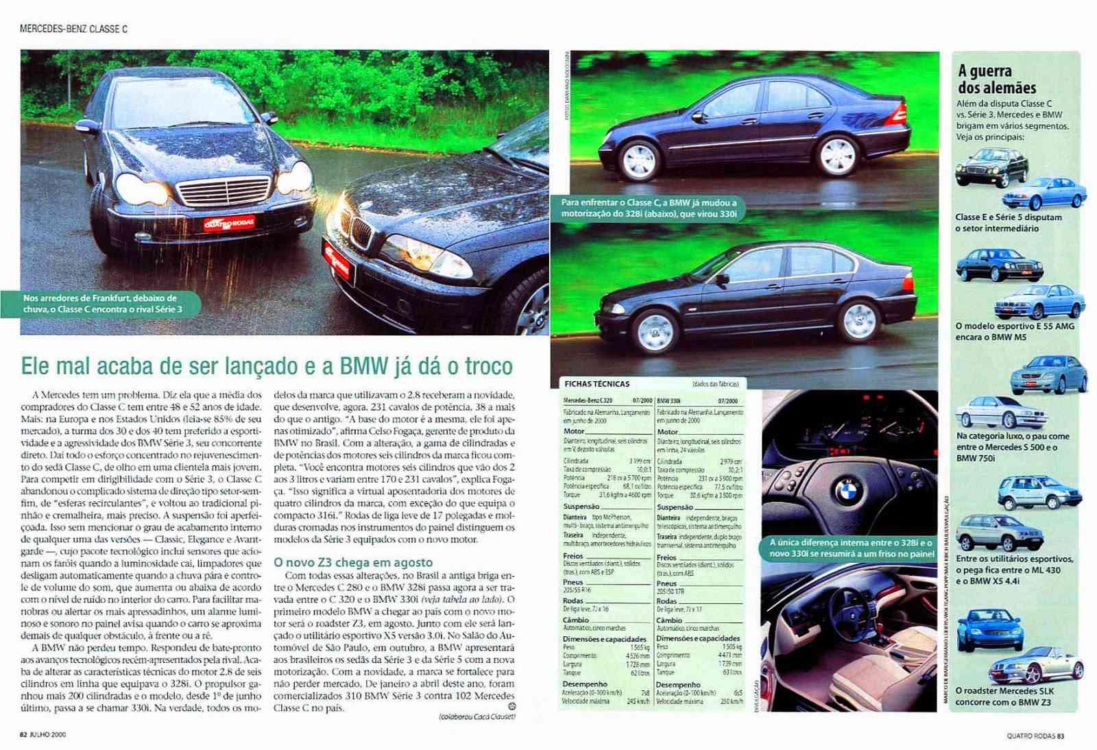 (W203): Avaliação Revista Quatro Rodas - C320 - julho de 2000 9a394410