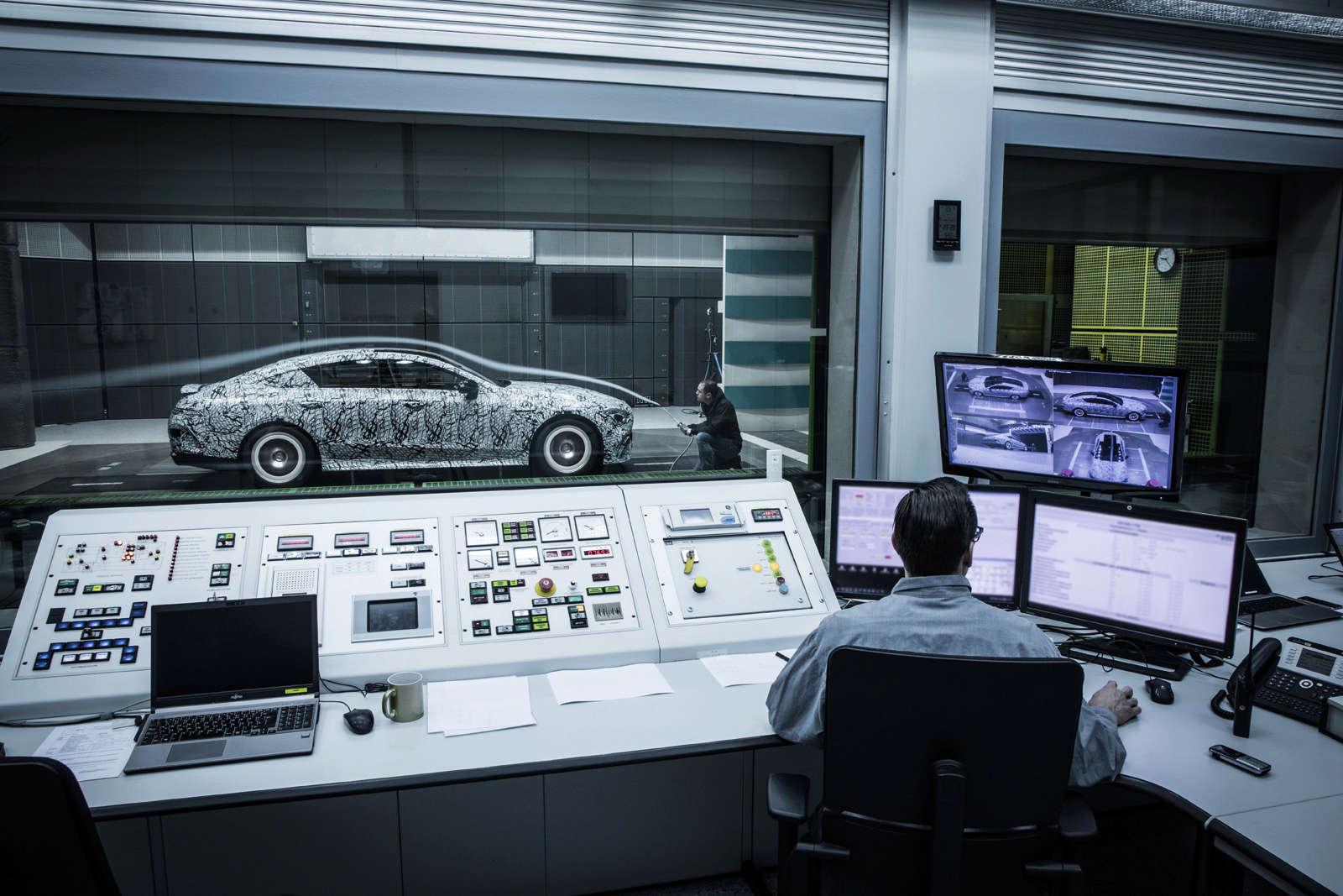 (X290): Fotos da Mercedes-AMG GT4 em testes no túnel de vento Bfb40010