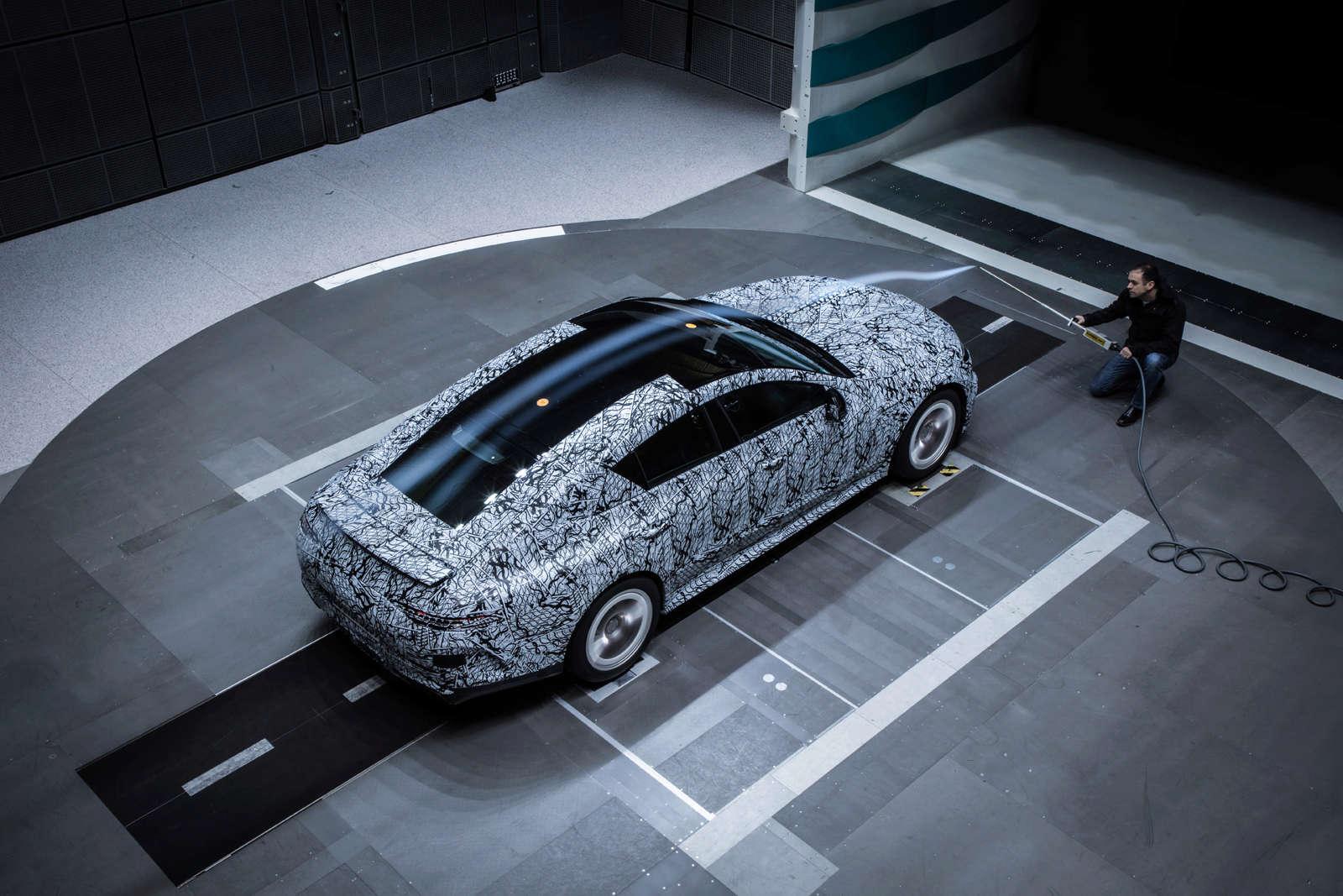 (X290): Fotos da Mercedes-AMG GT4 em testes no túnel de vento C1723610
