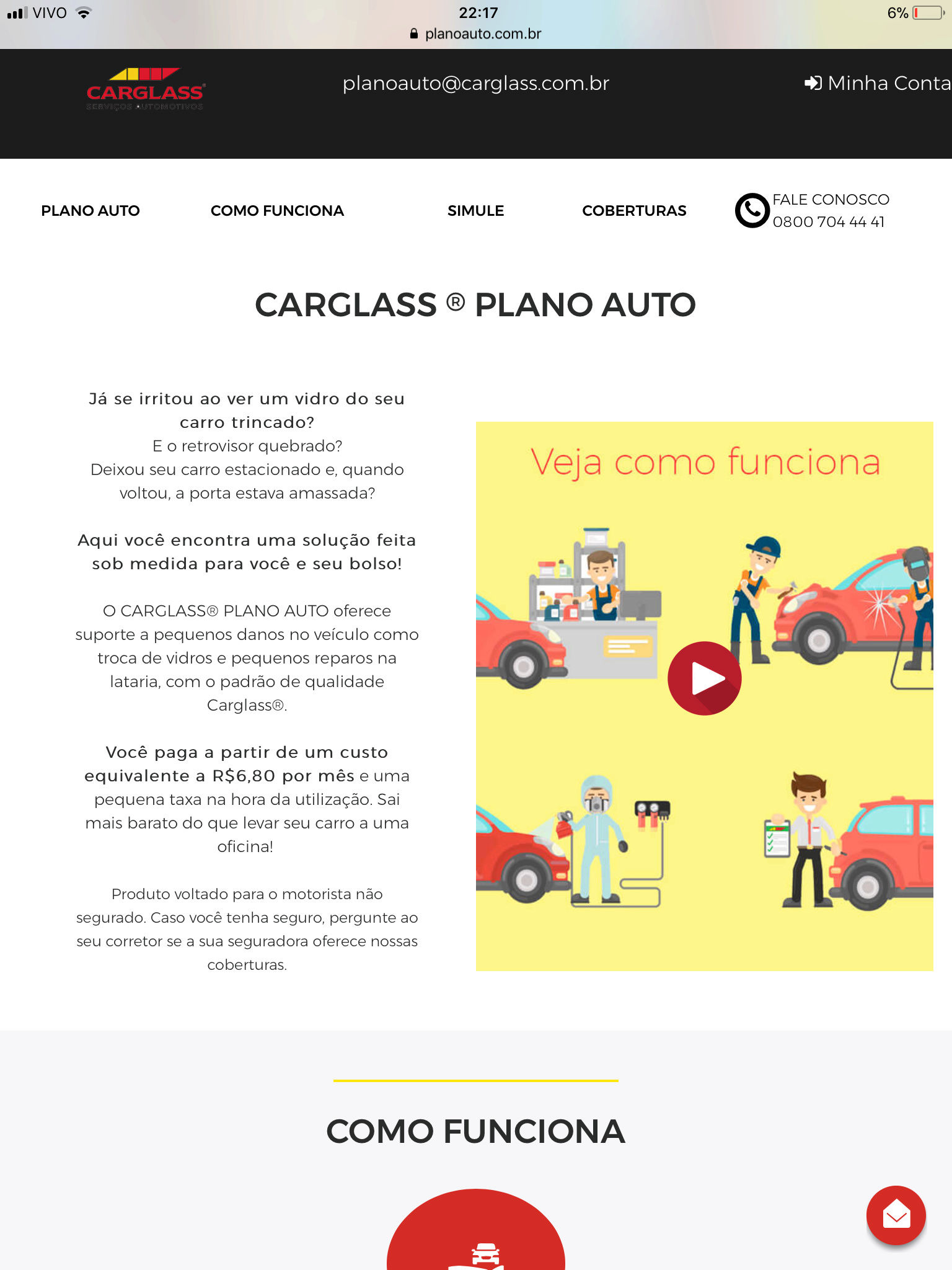 (MANUTENÇÃO): Seguro Auto Carglass® para vídros, faróis/lanternas, retrovisores e martelinho de ouro  E76a0e10